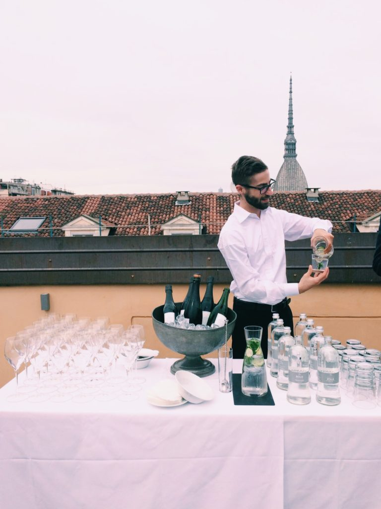 Drinks on the rooftop of NH hotel Torino